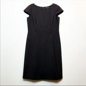 ANTONIO MELANIN Belted Sheath Cap Sleeve Dress
